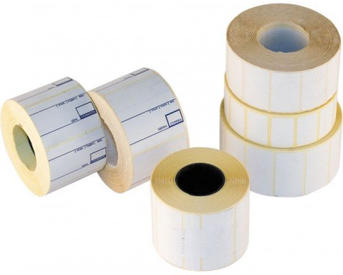 Этикетки для принтера 43*25 мм чистые 1000 штук в рулоне